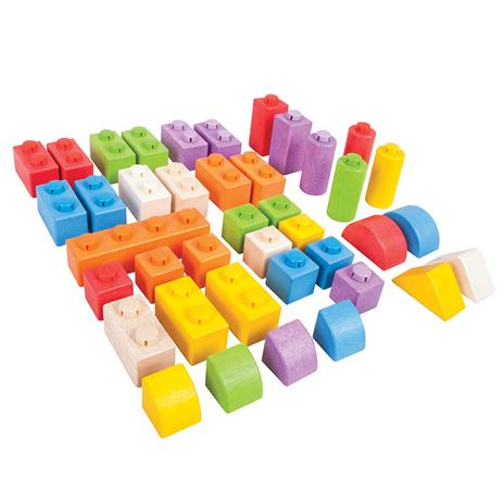 Click Blocks en bois - 40 pcs