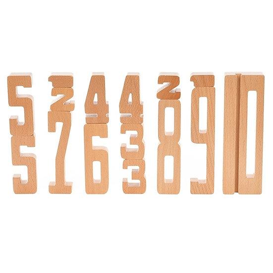 Chiffres en bois - Apprendre à compter