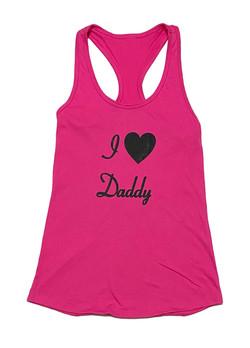 Love Daddy - Tank - PinkBlack