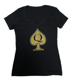 QoS - VNeck - Black Gold