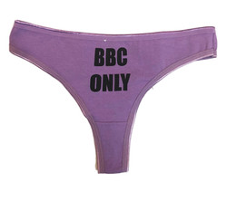 Thong - BBC Only - Purple-Black