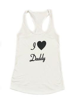 Love Daddy - Tank - WhiteBlack
