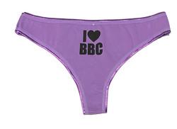 Thong - I Love BBC - Purple