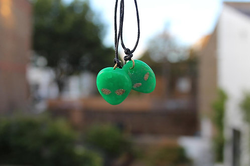 Green mini alien necklace