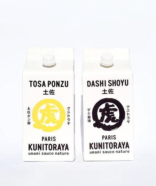 Duo Dashi Shoyu & Tosa Ponzu ダシ醤油 。土佐ポン