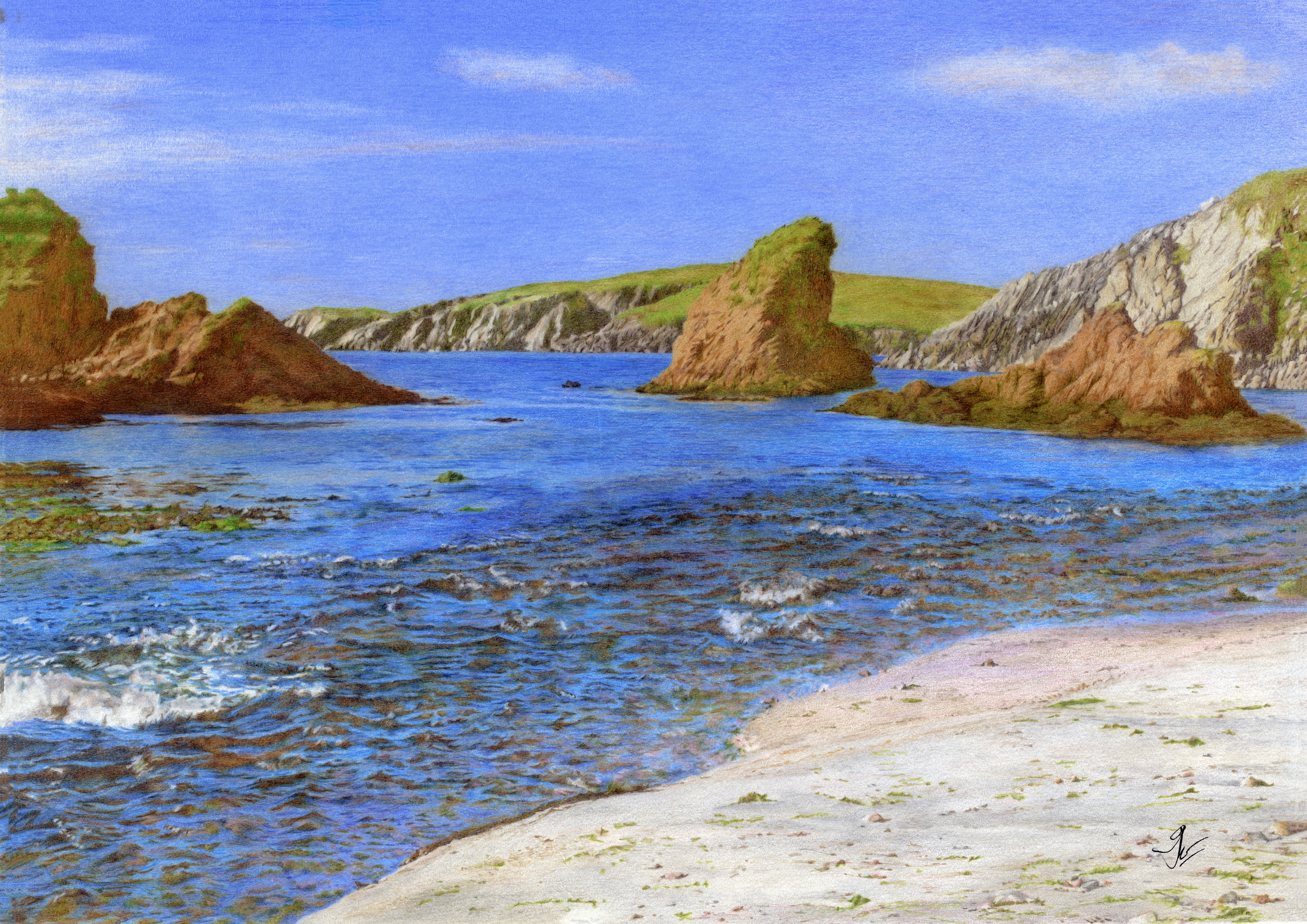 Spiggie Bay: 'Afternoon Sunshine'