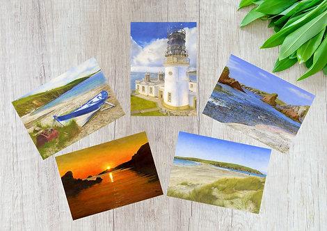 Shetland Summer Scenery, Set of 5 Greetings Cards
