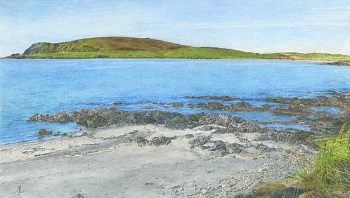 Scord Beach: Shetland Isles: Print In Mount: