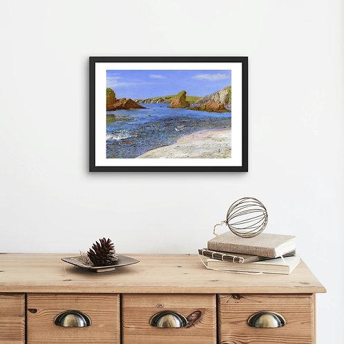 Spiggie Bay: 'Afternoon Sunshine' Print In Mount: