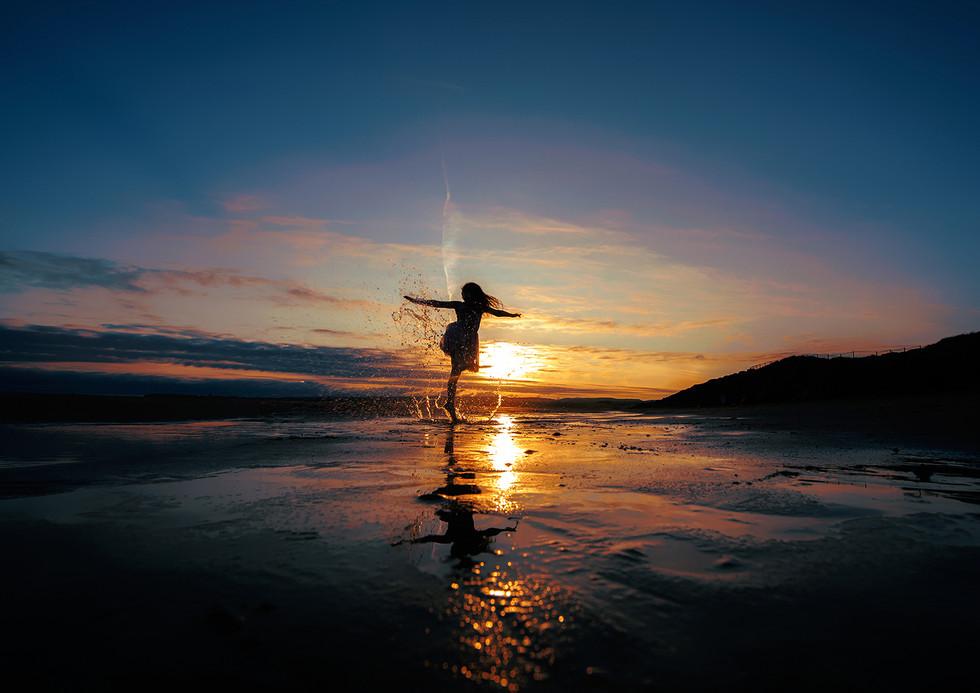 COLOUR - Sunset Dancing by Fionntan O'Meallain (12 marks)