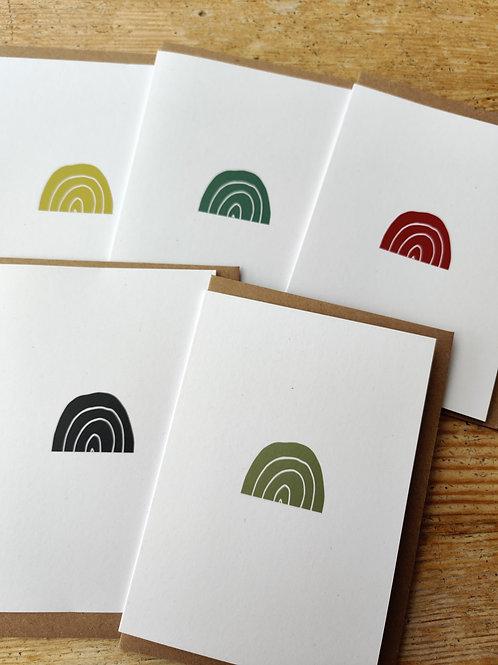New Bundle of 5 Rainbow Cards