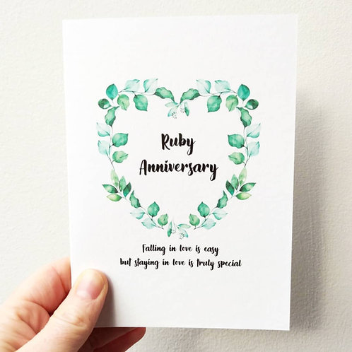 Wedding Anniversary Card - Milestones