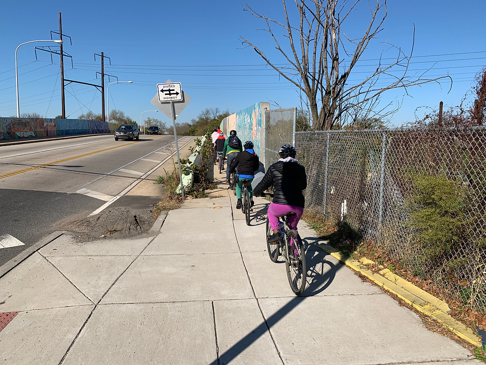 PWS Stewards riding to check out green tools for stormwater management Nov 2nd 2019
