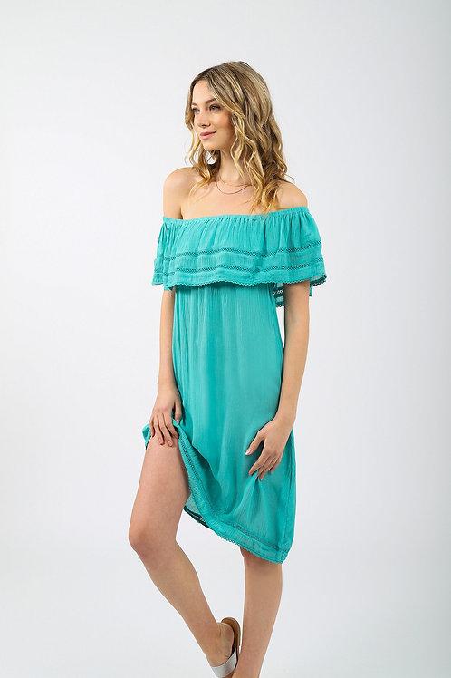 Ocean Off The Shoulder Dress