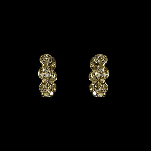 Circle Huggie Earrings