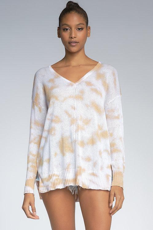 Latte Tie Dye Sweater