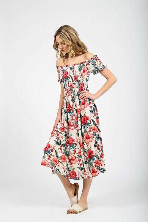 Smocked Off The Shoulder Dress