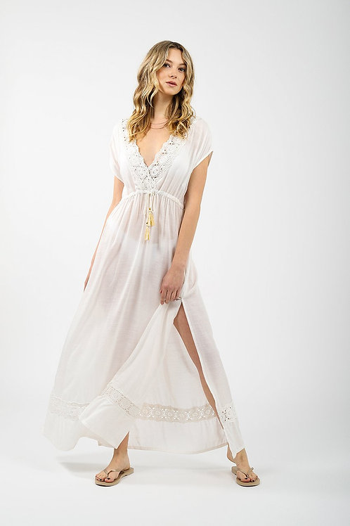 V-Neck Maxi Cover Up