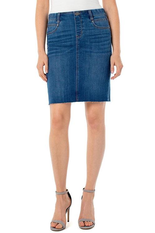 Cut Hem Pencil Skirt