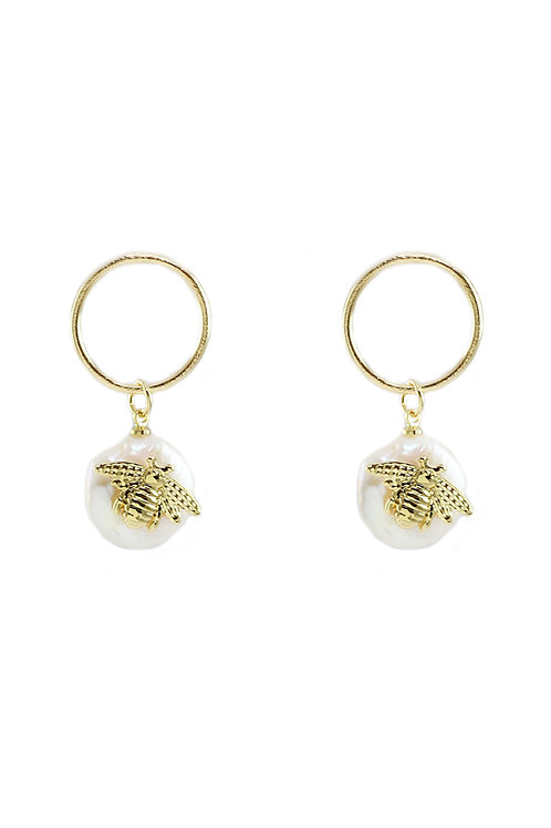 Bee Charm Earrings