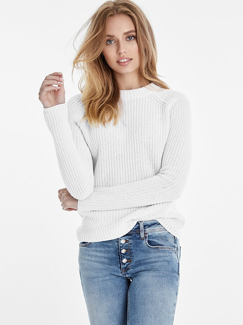 Cotton Shaker Sweater