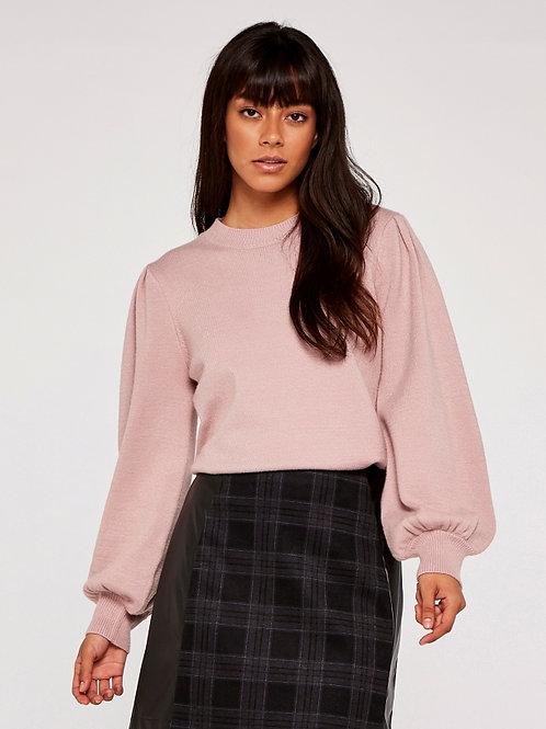 Pink Volume Sleeve Sweater