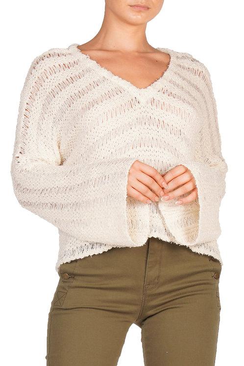 Natural V Neck Sweater