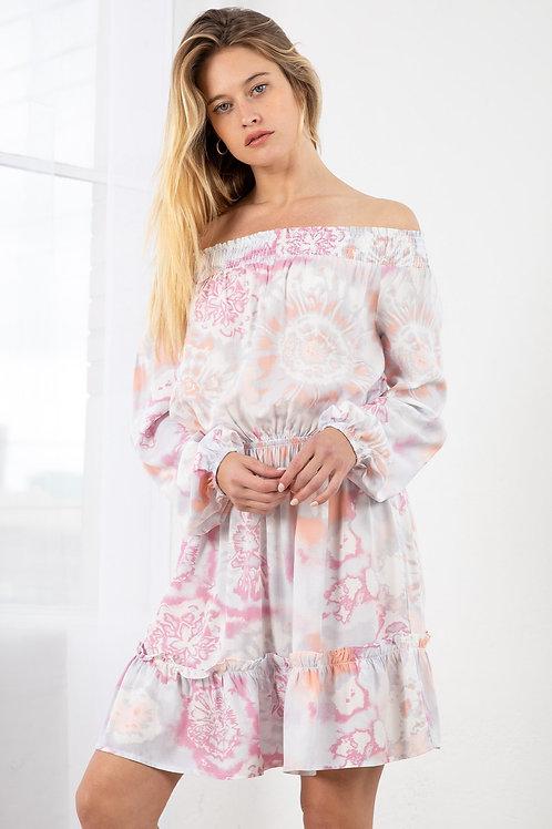 Coral Tier Dress
