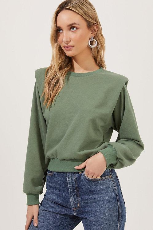 Shoulder Pad Sweatshirt