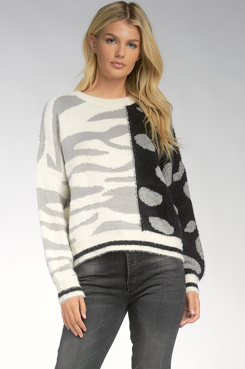 Contrast Sweater