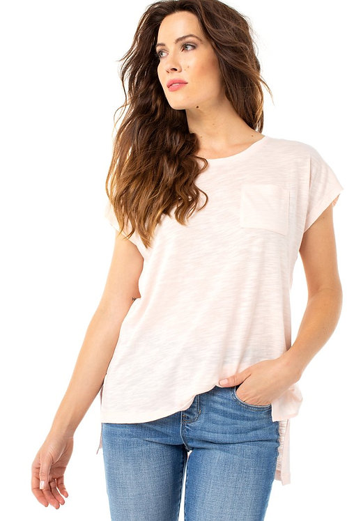 Dawn Pink Scoop Neck Tee