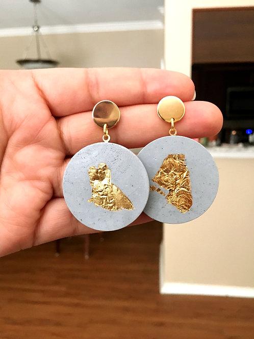 Gold Flake Earrings