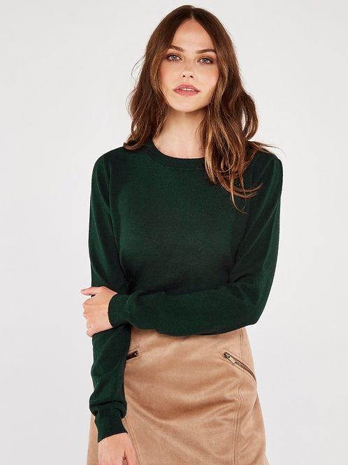 Green Round Neck Sweater