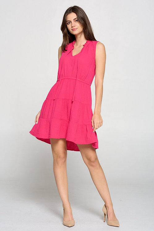 Raspberry Ruffle Dress