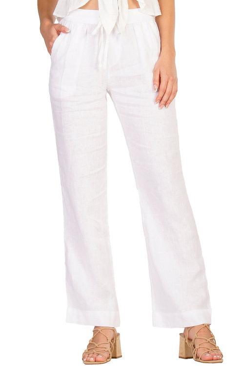 White Linen Resort Pants