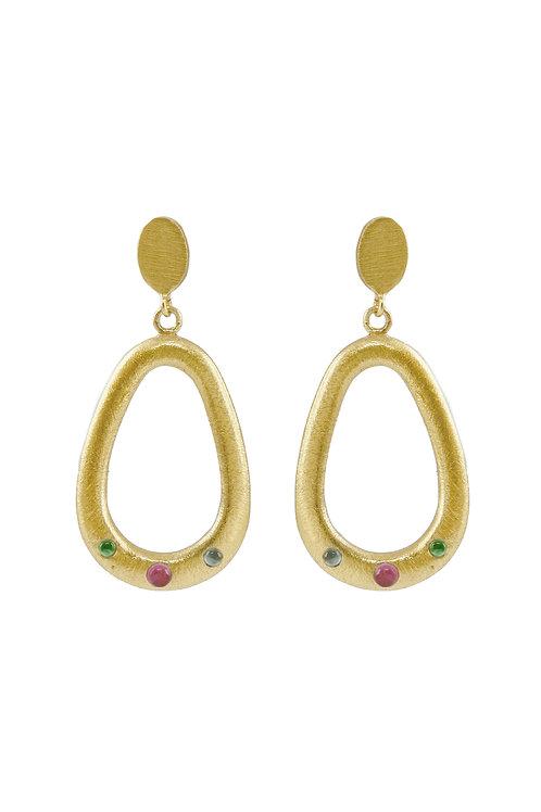 Three Stones Earrings