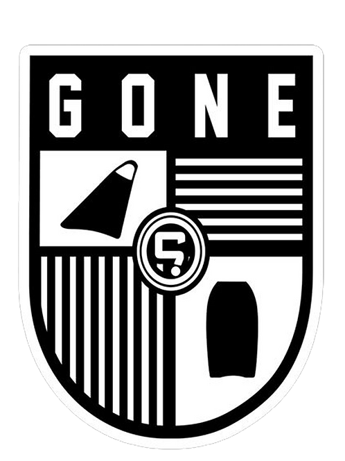 Gone Academy 7.5cm x 9cm