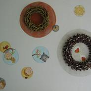 cirkels muurschildering iw