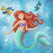 draw Ariel in your style
