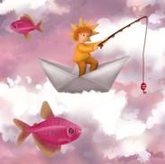 Vissen in de wolken