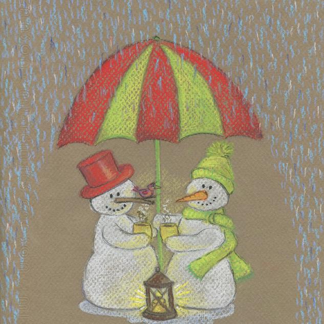 sneeuwmannen paraplu iw