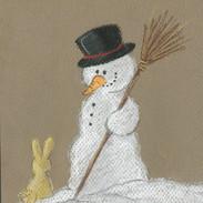 sneeuwpop konijntje iw