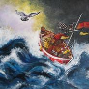 storm op zee iw