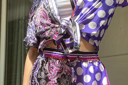 Unisex Purple Polka Shirt