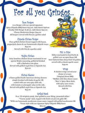 Gringo menu