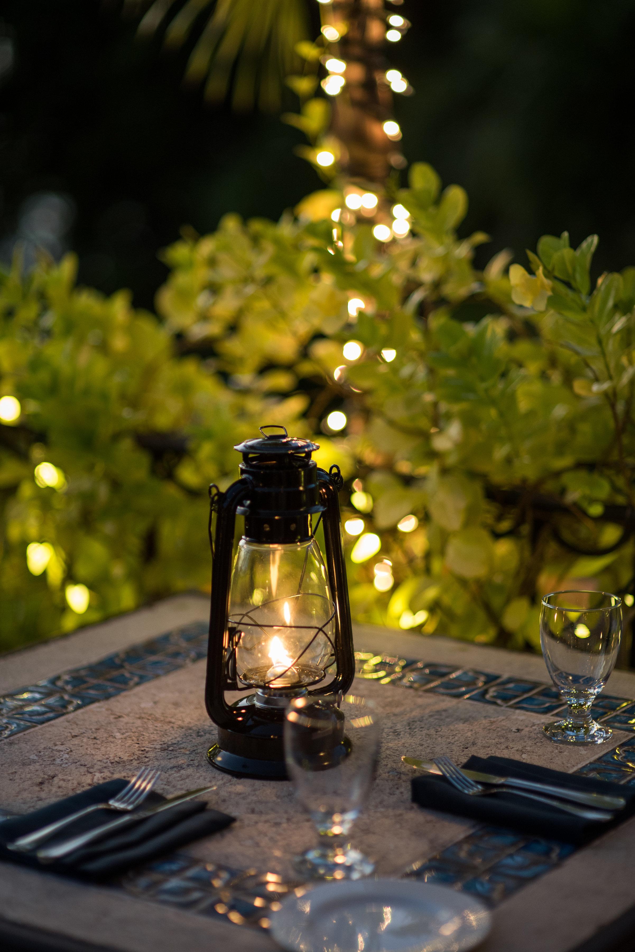 Cafe Luna Barbados lantern