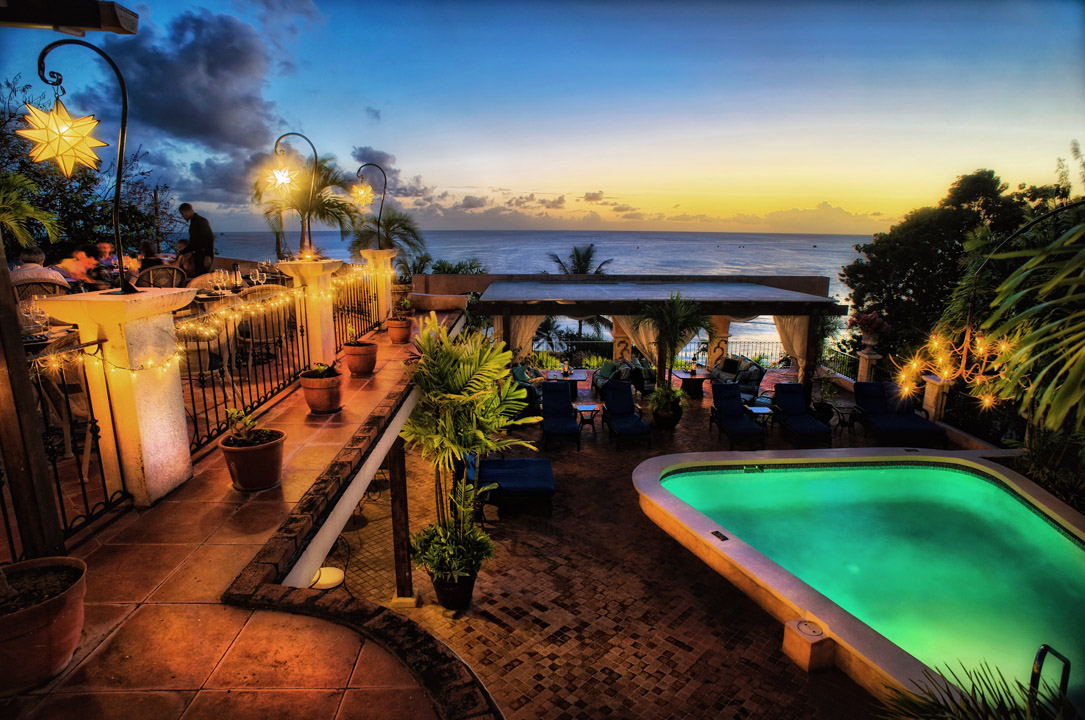pool sunset cafe luna barbados