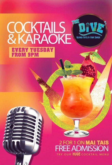 cocktails and karaoke