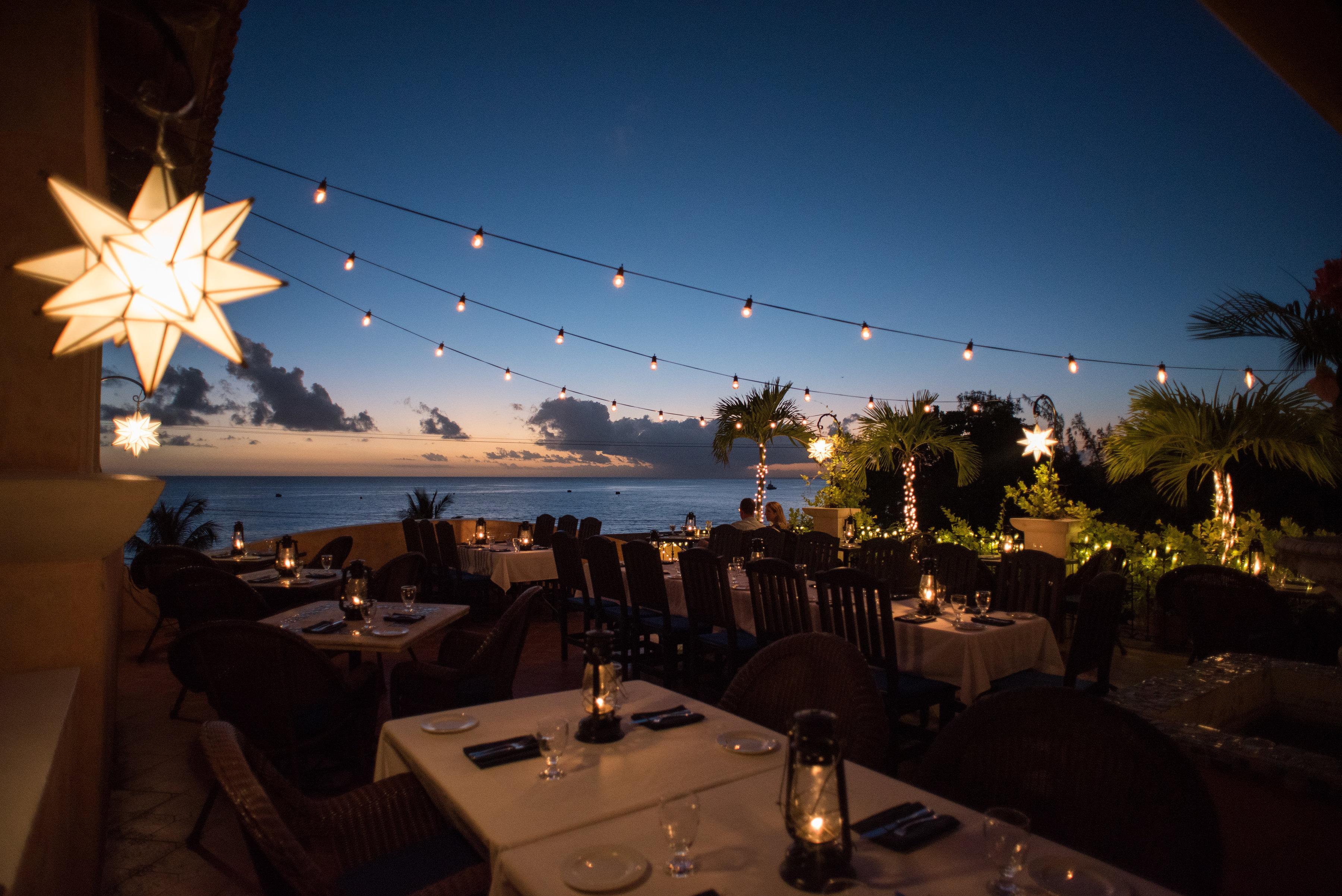 Cafe Luna Barbados cafe lights
