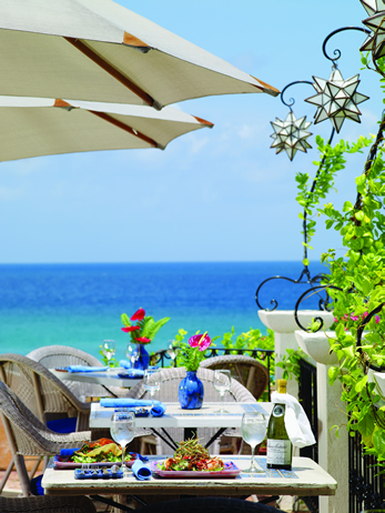 Lunch view Cafe Luna Barbados